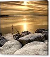 Icy Sunset Canvas Print