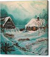 Icy Twilight Canvas Print
