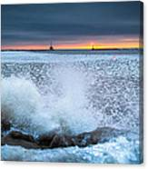 Icy Waves Canvas Print