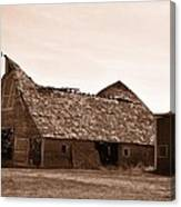 Idaho Falls - Vintage Barn Canvas Print