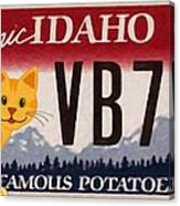 Idaho License Plate Canvas Print