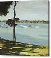 Idle Boats On White Rock Lake Canvas Print