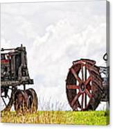 Idle Fordson Tractor On The Hill Canvas Print
