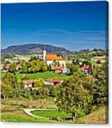 Idyllic Green Nature Of Croatian Village Of Glogovnica Canvas Print