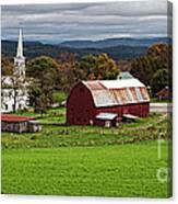 Idyllic Vermont Small Town Canvas Print