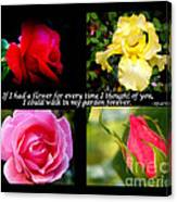 If I Had A Flower Collage Canvas Print