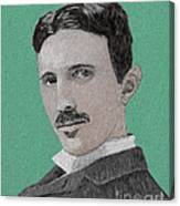 If You Could Read My Mind...tesla Canvas Print