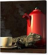 Iguana Coffee Canvas Print