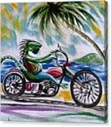 Iguana Rider Canvas Print