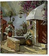 Il Lampione Oltre La Tenda Canvas Print