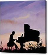 Il Pianista Canvas Print