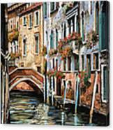 Il Ponte E I Pali Canvas Print