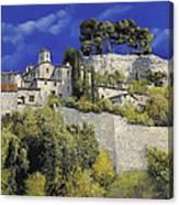 Il Villaggio In Blu Canvas Print