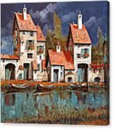 Il Villaggio Sul Lago Canvas Print