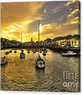 Ilfracombe Harbour At Dusk  Canvas Print