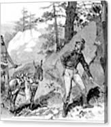 Illegal Prospecting, 1879 Canvas Print
