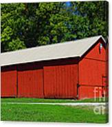 Illinois Red Barn Canvas Print