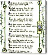 Illuminated Poem 1903 Canvas Print