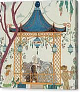 Illustration For 'fetes Galantes' Canvas Print