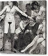 Illustration From La Maison Tellier By Guy De Maupassant  Canvas Print