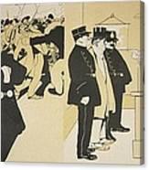 Illustration From Lassiette Au Beurre Canvas Print