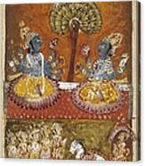 Illustration Of The Bhagavata Purana Canvas Print