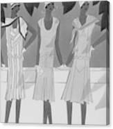 Illustration Of Three Women Canvas Print
