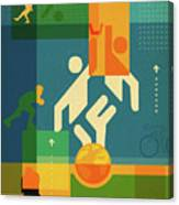 Illustration Of Various Sports Canvas Print