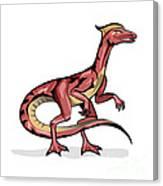 Illustration Of Velociraptor Canvas Print
