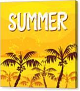 Illustration Summer Canvas Print