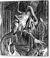 Illustration To The Poem Jabberwocky  Canvas Print