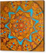 Illustrious Hue Mandala Canvas Print