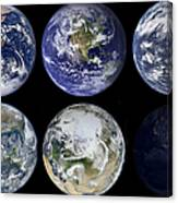 Image Comparison Of Iconic Views Canvas Print