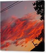 Imagening Orange Canvas Print