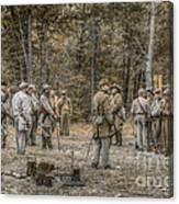 Images Of The Civil War Confederate Soldiers Canvas Print