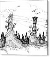 Imagination 1993 - Eagles Over Desert Rocks Canvas Print