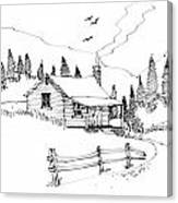 Imagination 1993 - Mountain Cabin Canvas Print