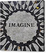 Imagine A World Of Peace Canvas Print