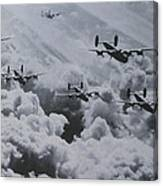 Imagine The Brave Men In These Bombers On A World War II Mission Canvas Print