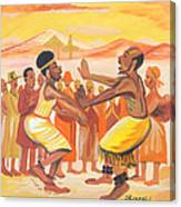 Imbiyino Dance From Rwanda Canvas Print