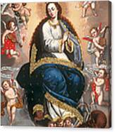 Immaculate Virgin Victorious Over The Serpent Of Heresy Canvas Print
