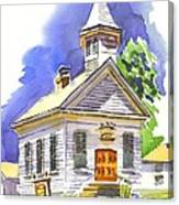 Immanuel Evangelical Lutheran Church Pilot Knob Missouri Canvas Print