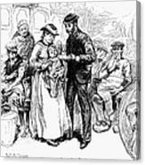 Immigrant Inspection, 1883 Canvas Print