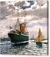 Immigrant Ship, 1893 Canvas Print