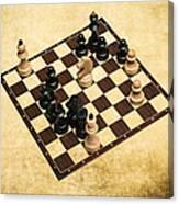Immortal Chess - Byrne Vs Fischer 1956 Canvas Print