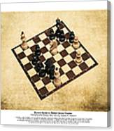 Immortal Chess - Byrne Vs Fischer 1956 - Moves Canvas Print
