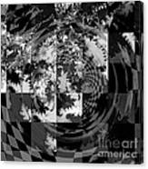 Impossible Reflections B/w Canvas Print