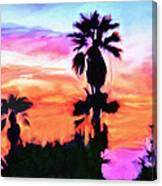 Impression Desert Sunset V2 Canvas Print
