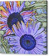 Impressionism Sunflowers Canvas Print