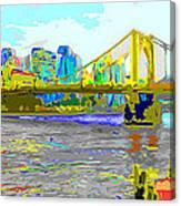 Impressionist Clemente Bridge 2 Canvas Print